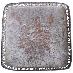 Marcello Fantoni Silvered Copper Platter