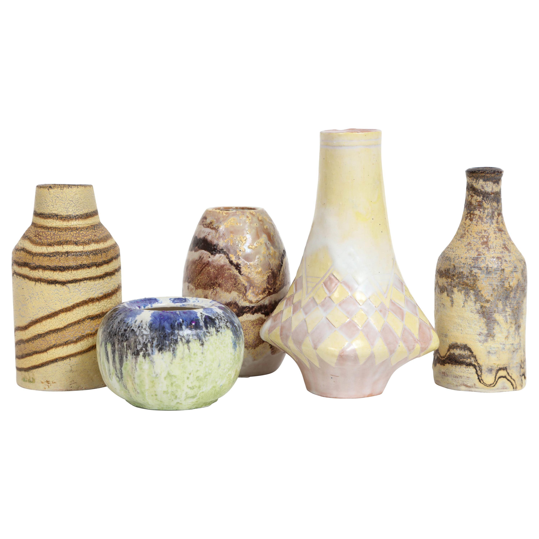 Marcello Fantoni Small Ceramic Vases, circa 1960s - 1970s