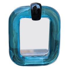 Marcello Furlan Murano Glass Picture Frame Italian Design 1990 Heavenly Black