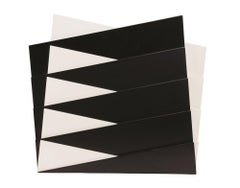 Project 341 - Black and White Lacquered Wood - 1989
