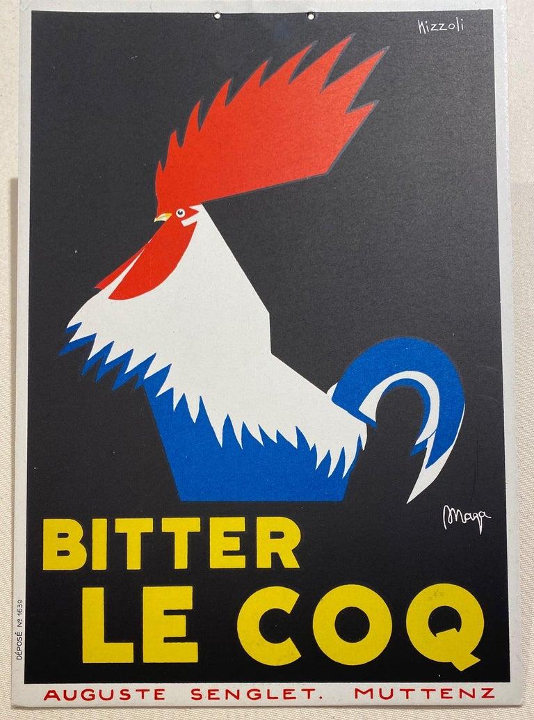 Bitter Le Coq Original Vintage In-Store Display - Art Deco Print by Marcello Nizzoli