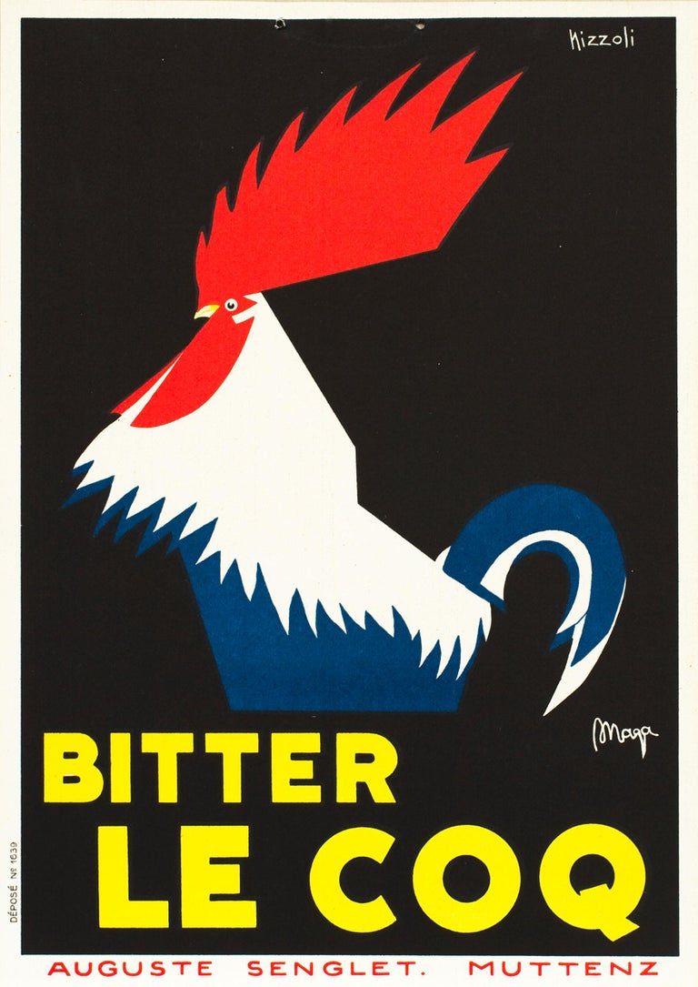 Bitter Le Coq Original Vintage In-Store Display - Print by Marcello Nizzoli
