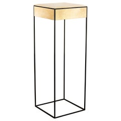 Marcello Side Table in Parchment and Metal from Costantini