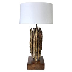 Marcelo Fantoni Brutalist Torch Metal Cut Table Lamp
