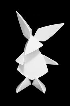Mr. Rabbit Metal with Enamel Paint Sculpture