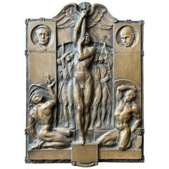 """""""March on Rome,"""" Bronze with Male Nudes Marking the 1922 Fascist Rise to Power"""