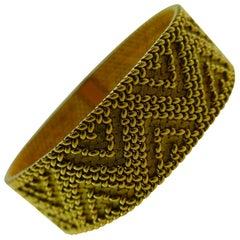 Marchak Paris Georges Lenfant 18 Karat Gold Woven Bracelet circa 1960s Vintage