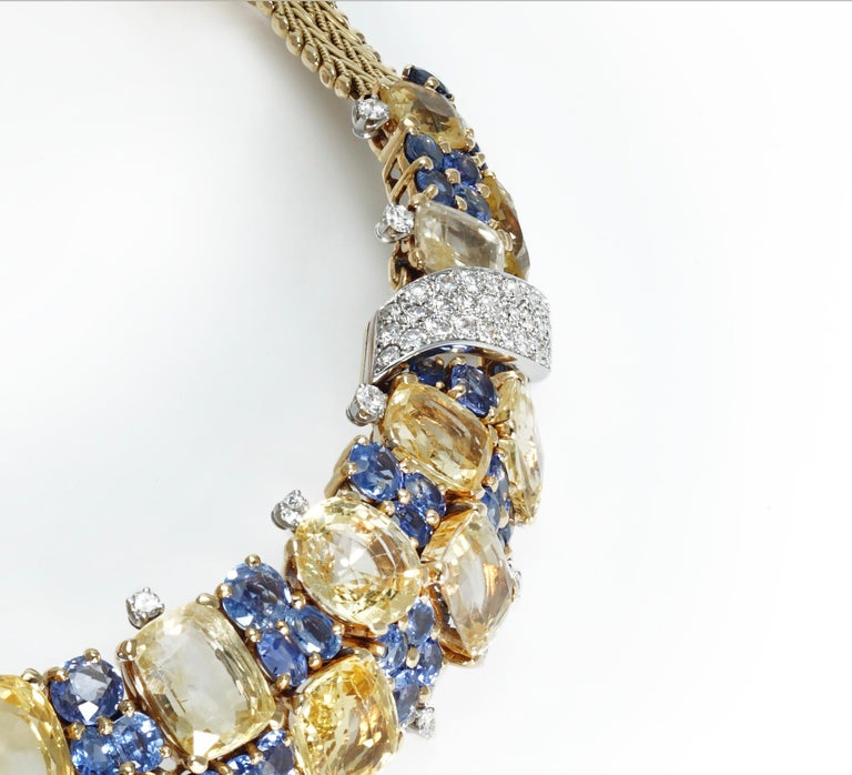 Marchak Sapphires Necklace In Excellent Condition For Sale In Monte Carlo, MC