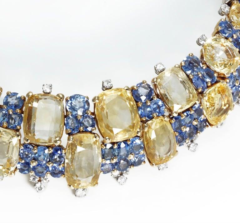 Women's Marchak Sapphires Necklace For Sale