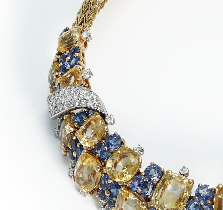 Marchak Sapphires Necklace For Sale 1