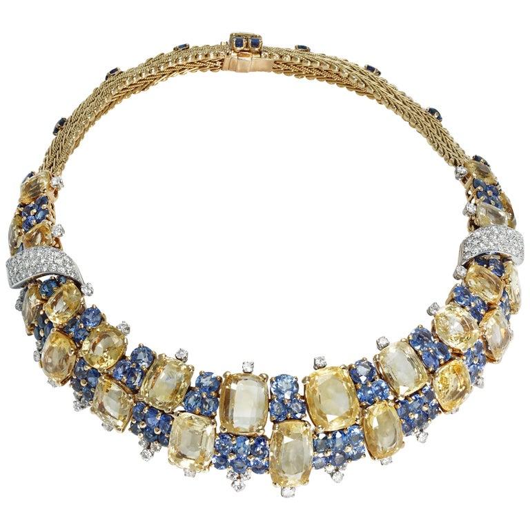 Marchak Sapphires Necklace For Sale