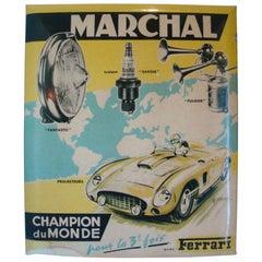 Marchal Ferrari 375 Plus Accessory Counter Advertising Sign, ca 1950's
