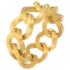 Marchisio Giovanni 18 Karat Yellow Gold Textured Chain Bracelet