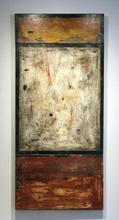 Frammento del Muro XCVII,  Three Part Fresco on Stretched Linen