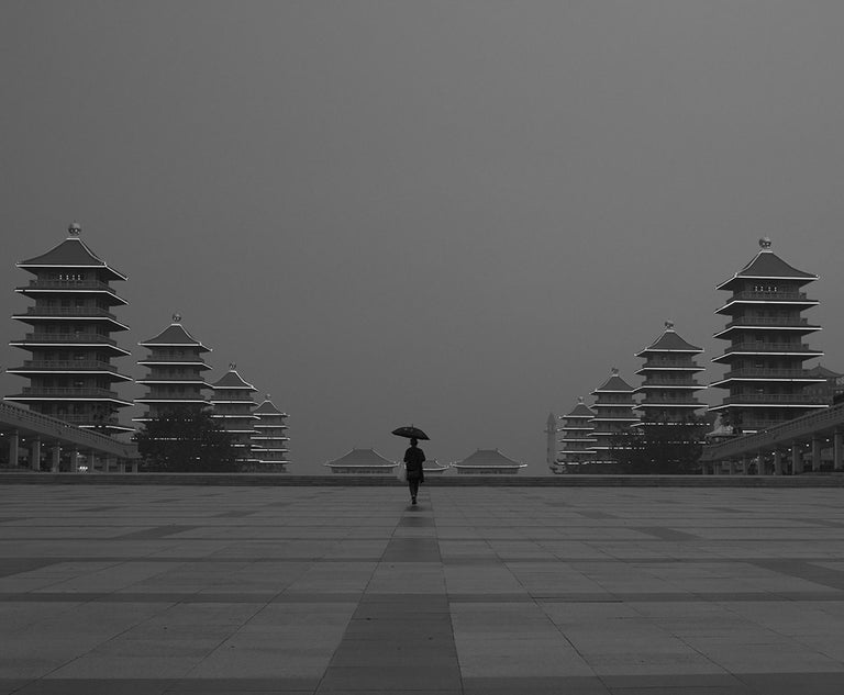 Marcin Ryczek Figurative Photograph - Alone - Contemporary Symbolic Black And White Photography