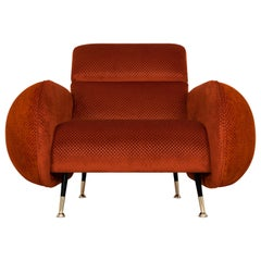 Marco Armchair in Orange Velvet
