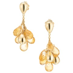 Marco Bicego 10.00 Carat Citrine Yellow Gold Paradise Drop Earrings