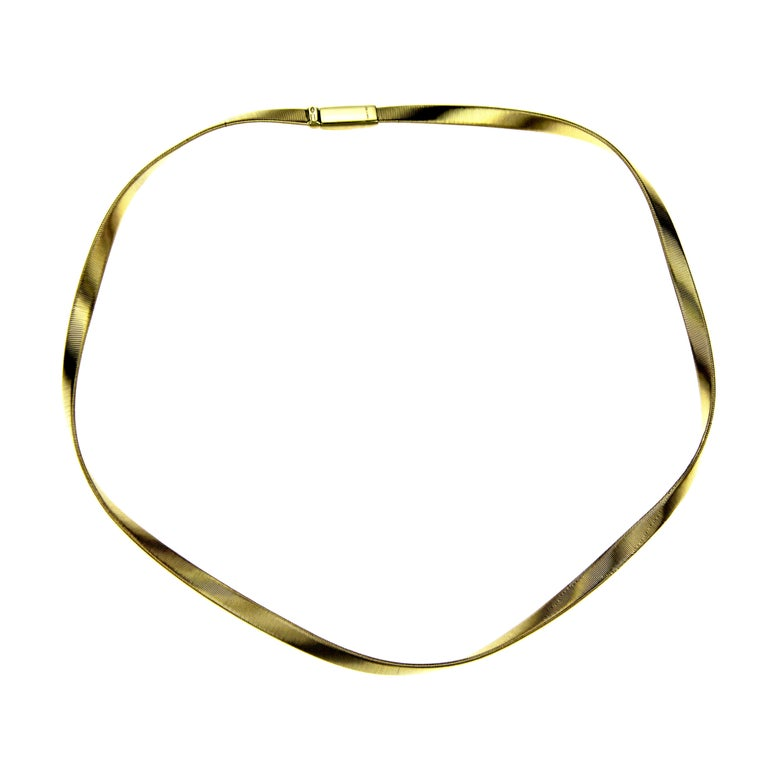 4edee840cd0d2d Marco Bicego 18 Karat Gold Marrakech Supreme Single Strand Collar Necklace  For Sale