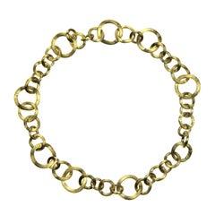 Marco Bicego 18 Karat Yellow Gold Jaipur Link Gauge Collar Choker Necklace