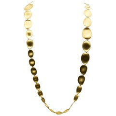 Marco Bicego 18 Karat Yellow Gold Medium Double Wave Necklace