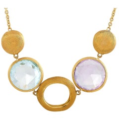 Marco Bicego 18 Karat Yellow Gold Multi-Color Gemstones Necklace