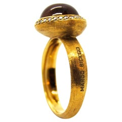 Marco Bicego 18kt Gold and Citrine and Diamond Ring