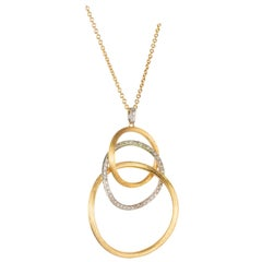 Marco Bicego .50 Carat Diamond Gold Pendant Necklace