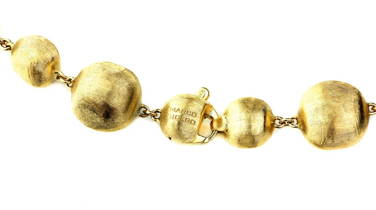 Women's Marco Bicego Africa, 18 Karat Yellow Gold Single Strang Mixed Beads Necklace For Sale