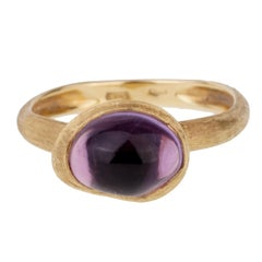 Marco Bicego Amethyst Textured Gold Ring
