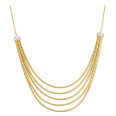Marco Bicego Cairo Yellow Gold and Diamond Five-Strand Necklace CG716 B YW M5