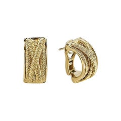 Marco Bicego Cairo Yellow Gold Earrings Hand Twisted and Woven OG307 Y 01