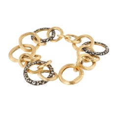 Marco Bicego Crystal Link Yellow Gold Bracelet