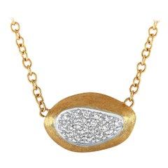 Marco Bicego Diamond Yellow Gold Pendant Necklace