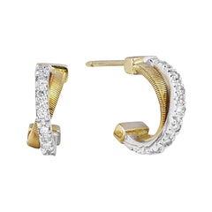 Marco Bicego Goa Yellow Gold and Diamonds Earrings OG330 B