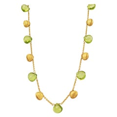 Marco Bicego Gold and Peridot Paradise Necklace