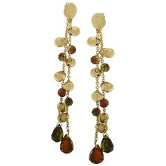Marco Bicego Italy, Peridot and Citrine Paradise Double-Strand Dangle Earrings
