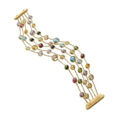 Marco Bicego Jaipur 5 Strands Gemstone Bracelet BB1307-MIX01