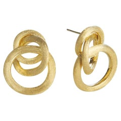 Marco Bicego Jaipur Yellow Gold Link Small Knot Earrings OB938 Y 02