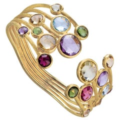 Marco Bicego Jaipur Yellow Gold and Mixed Gemstones Five-Row Bangle SB52 MIX01 Y