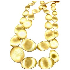 Marco Bicego Lunaria 18 Karat Gold Graduated Necklace