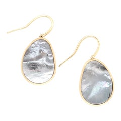 Marco Bicego Lunaria Gold Black Mother of Pearl Earrings