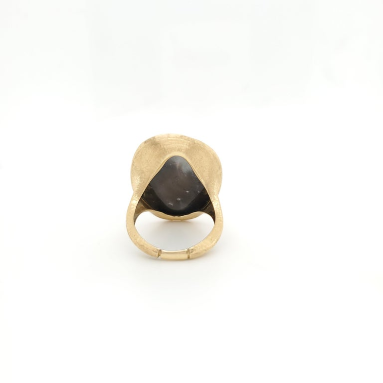 Women's Marco Bicego Lunaria Gold Black Mother of Pearl Ring For Sale