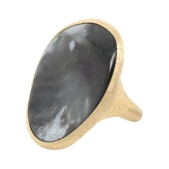 Marco Bicego Lunaria Gold Black Mother of Pearl Ring