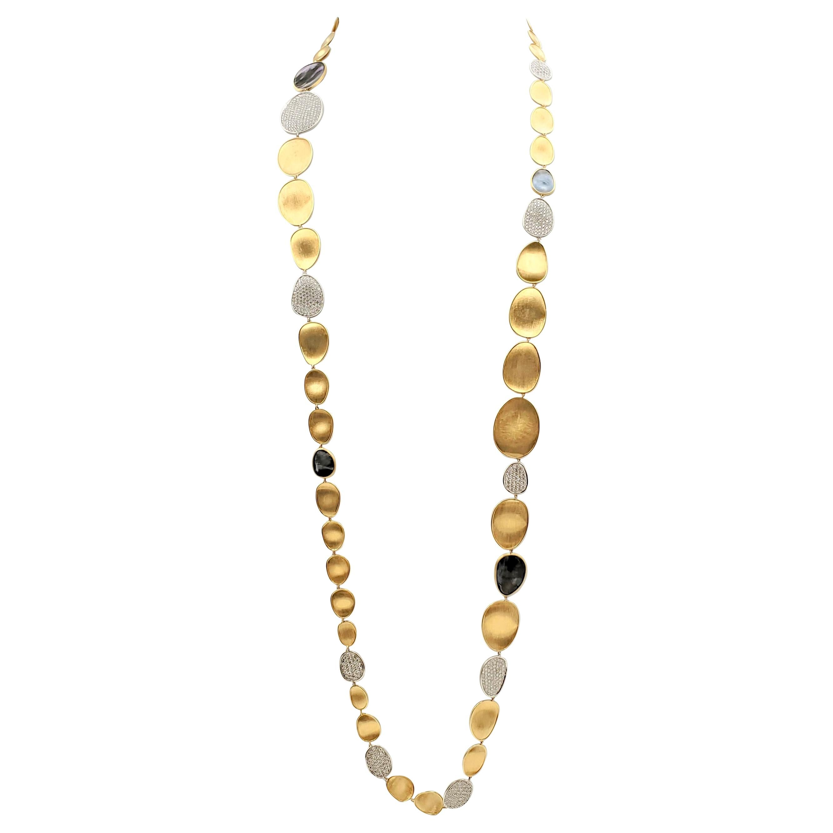 Marco Bicego 'Lunaria' Mother of Pearl and Diamond Sautoir Necklace