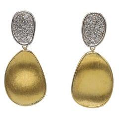 Marco Bicego Lunaria Small 18 Karat Diamond Dangle Drop Earrings