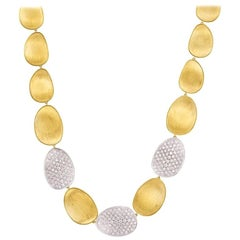 Marco Bicego Lunaria Yellow Gold Diamond Necklace CB1920 B YW