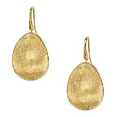 Marco Bicego Lunaria Yellow Gold Medium Drop Earrings OB1343A