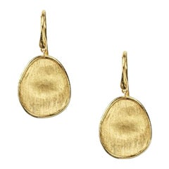 Marco Bicego Lunaria Yellow Gold Petite French Wire Drop Earrings OB1341A