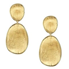 Marco Bicego Lunaria Yellow Gold Small Double Drop Earrings OB1345