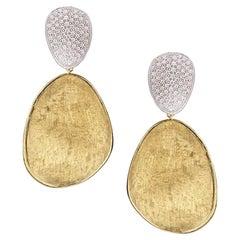 Marco Bicego Lunaria Yellow Gold with Diamonds Earring OB1462 B